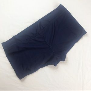 Tropical Escape Navy Blue Boy Short Bikini Bottoms